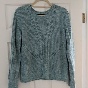 Banana Republic Seafoam Green Cable Knit Sweater